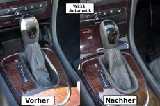 Schaltsack Mercedes E-Klasse W211 Automatik ECHT LEDER N283