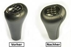 BMW E30 E36 E34 E32 E28 E39 E38 Abdeckung Lederbezug Leder für Schaltknauf N351