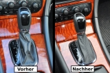 Schaltsack Mercedes C-Klasse W203 Automatik ECHT LEDER N251