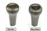 BMW E23 E24 E28 E30 E32 Bj. 85-93 Abdeckung Lederbezug Leder für Schaltknauf N373